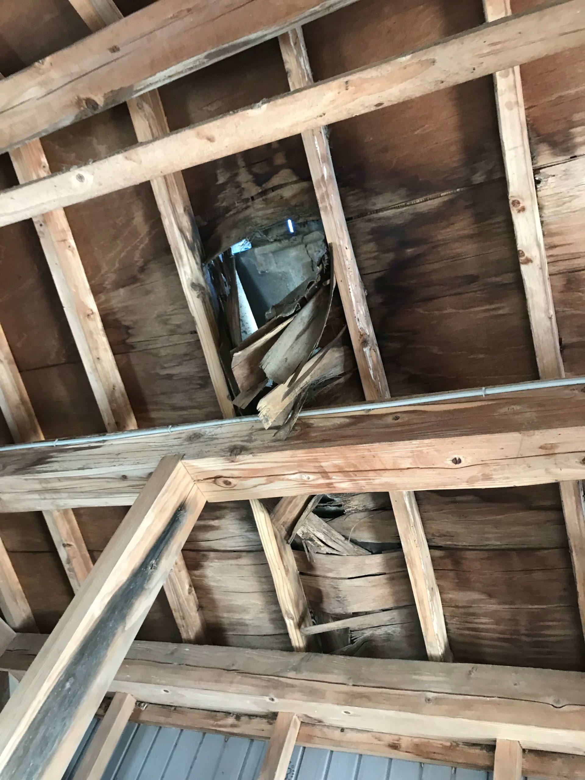 福岡県大川市 Y様  屋根一部補修、軒天貼り替え工事